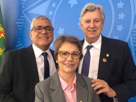 Christino Áureo se reúne com ministra Tereza Cristina para tratar do Brasil Rural Sustentável